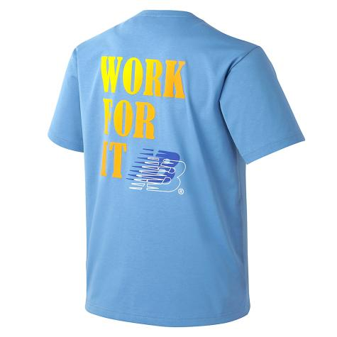 UNI 그라데이션 등판 그래픽 티셔츠 (NEW BASIC FIT)